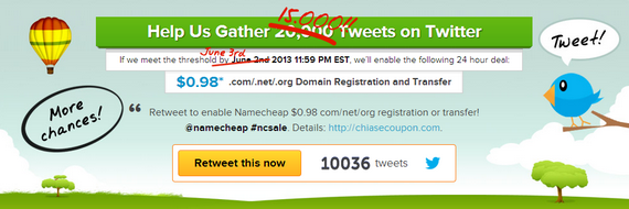 namecheap retweet