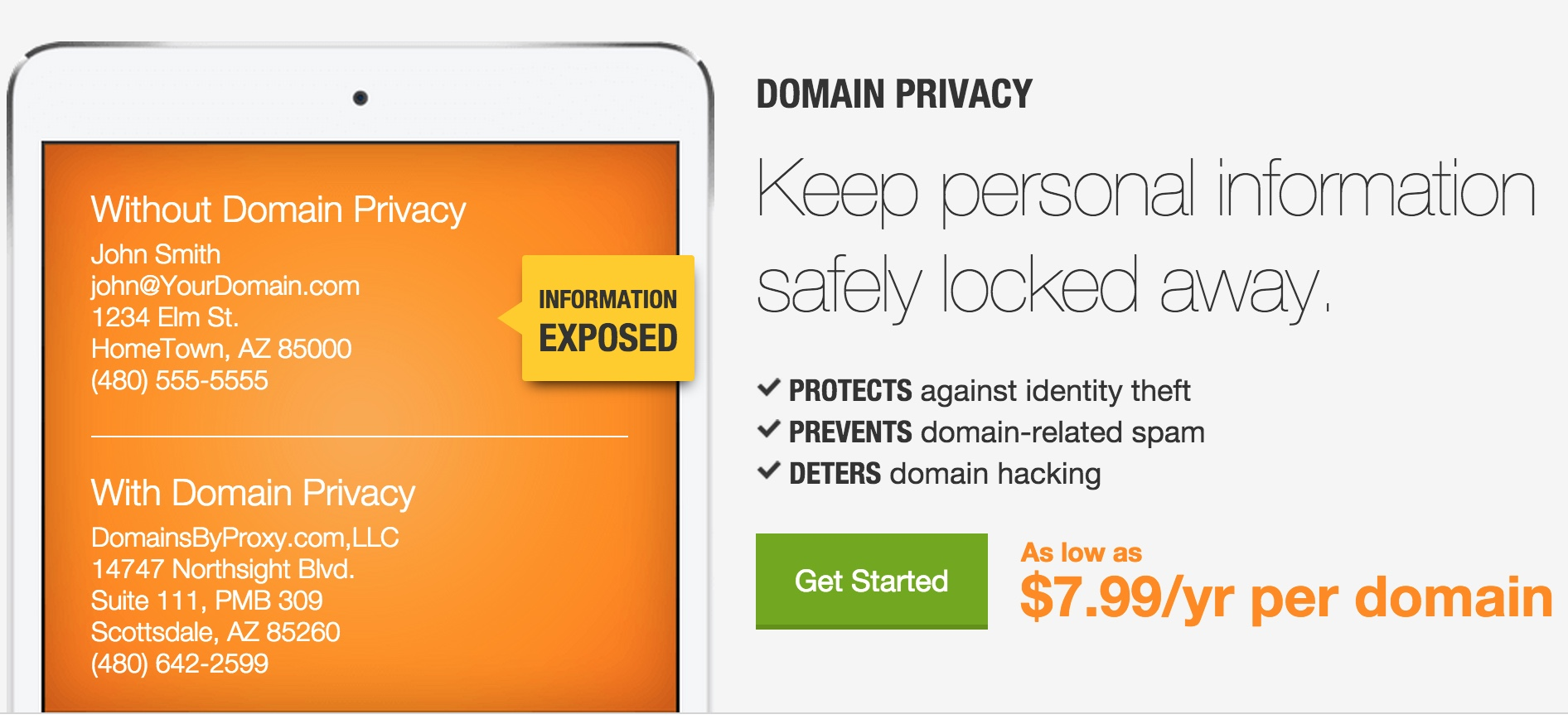 GoDaddy Domain Privacy