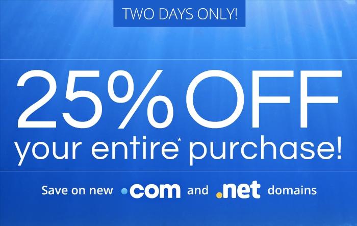 Domain.com Flash Sale 25