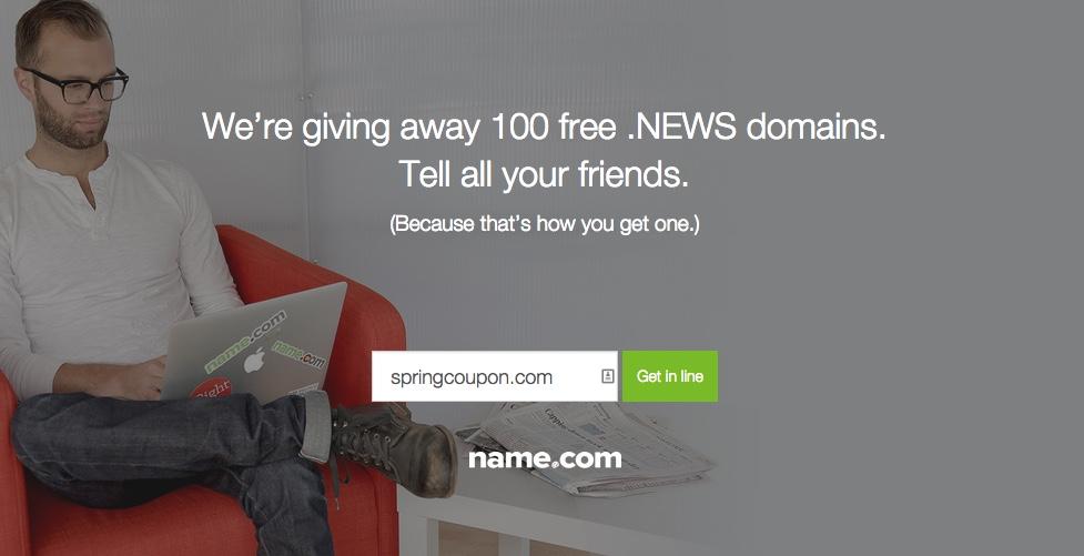 Name.com Free Domain NEWS