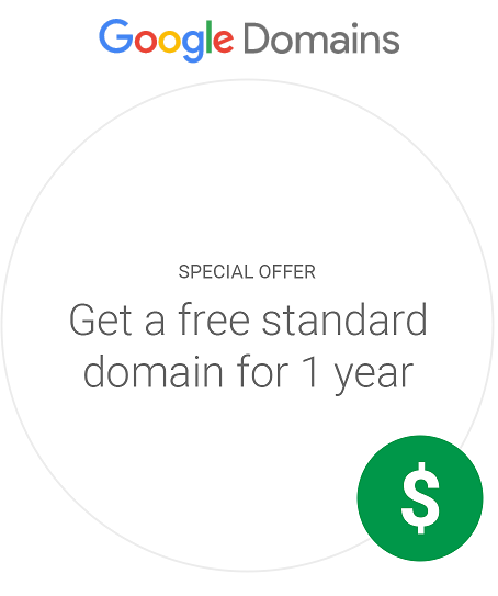 Google free domain 1 year