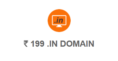 BigRock .IN domain Rs 199
