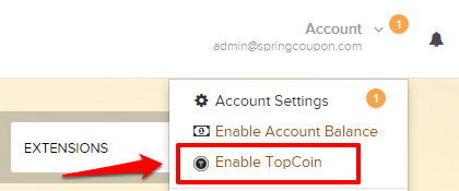 Enable TopCoin