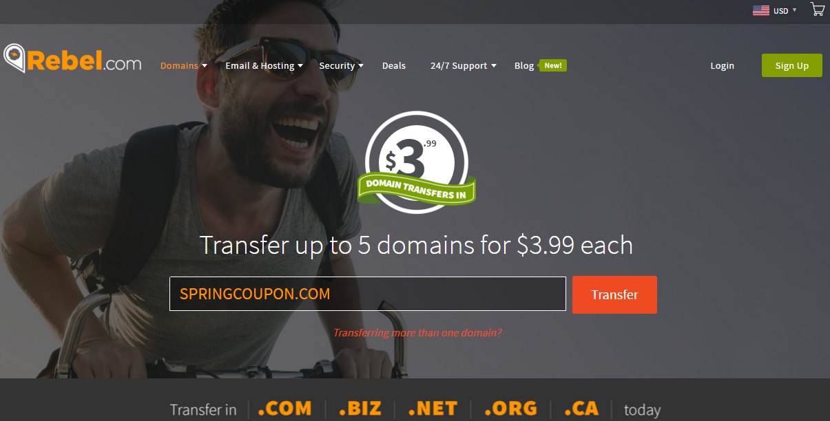 Transfer domain 3.99 usd to Rebel