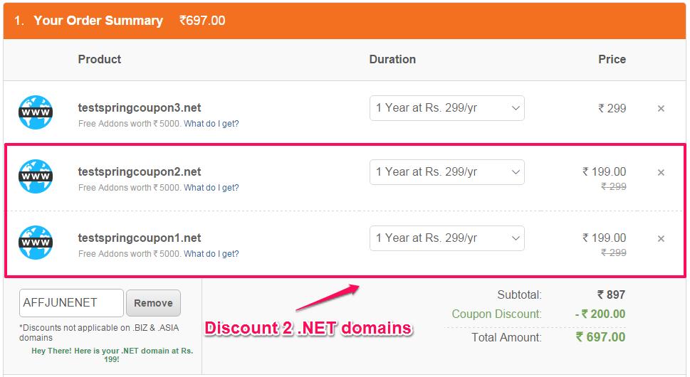 BigRock .NET domain Rs 199