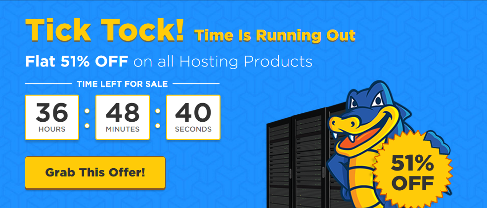 Flat 51 Off All HostGator India Hosting Plans copy