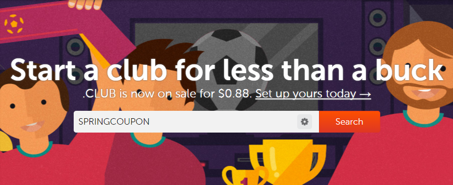 Namecheap .CLUB domain 0.88 usd