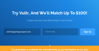Vultr Coupon Code - Vultr Promo Code - Get $103 Credit Free