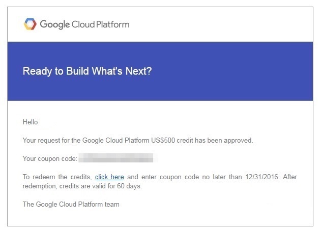 Google Cloud Platform Coupon