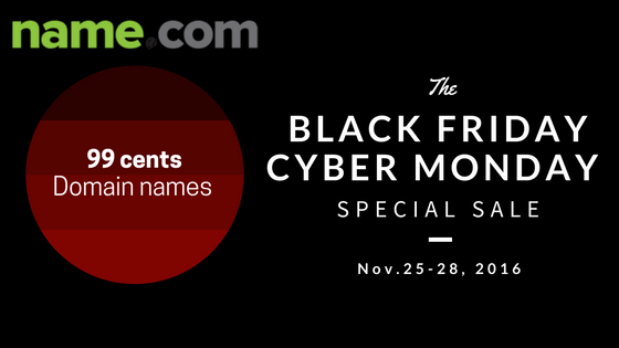 Black Friday Sale Name Com New Domain Registrations Just From 0 99 Year Spring Coupon