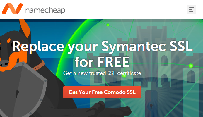 Namecheap Support You Replace Symantec SSL for FREE - Spring Coupon