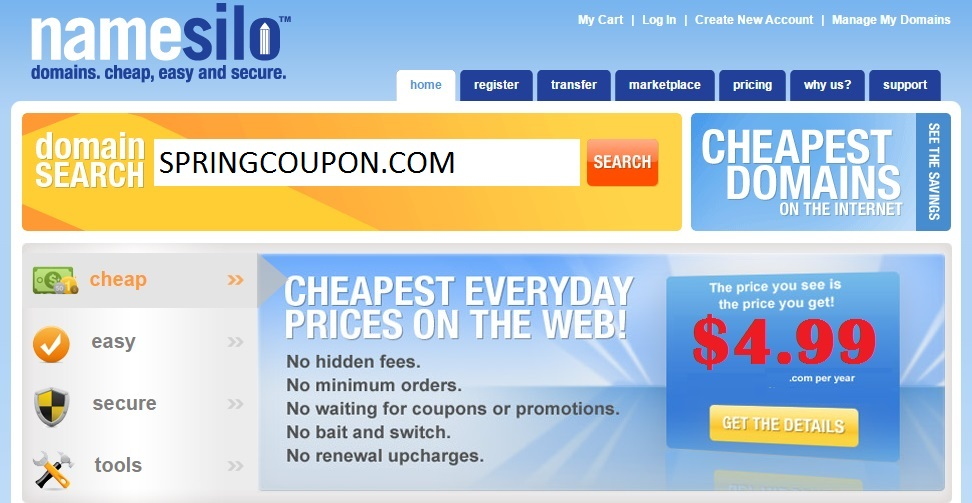 [HOT] Grab .COM Domains for Only $4.99 at NameSilo ...