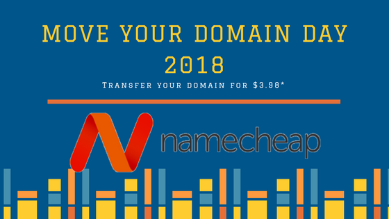 "2018年Namecheap""Move Your Domain Day""域名转入活动"